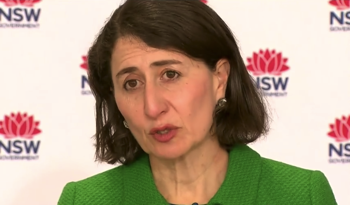 Premier Gladys Berejiklian warned setbacks from non-compliance could take weeks to fix. Source: ABC