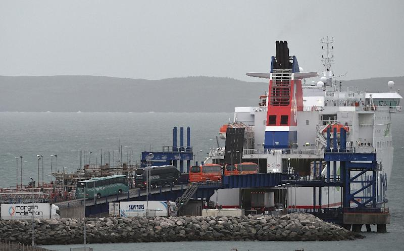 Some hauliers are already beginning to use other sea routes in case transport between Dublin and Holyhead becomes caught up in delays post-Brexit (AFP Photo/PAUL ELLIS)