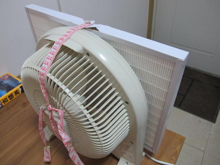 "Thomas Talhelm's first DIY air purifier that he made in 2013 before starting Smart Air. <span class=""copyright"">(Thomas Talhelm)</span>"