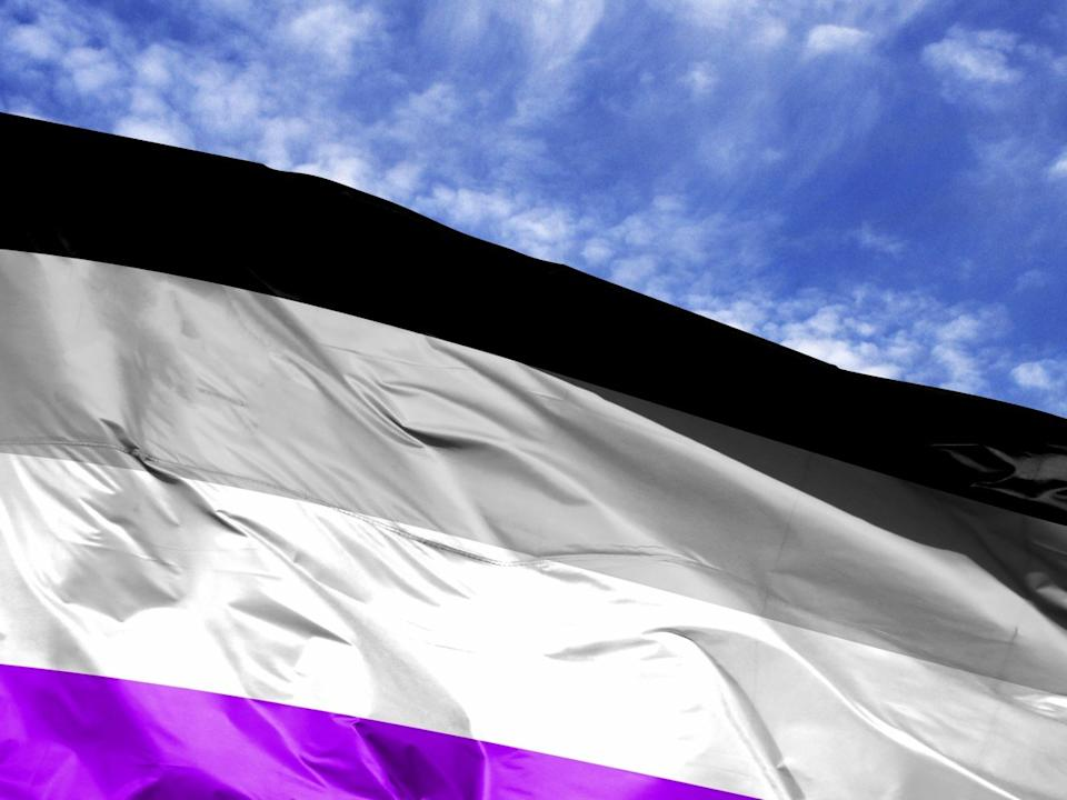 asexual flag in the sky