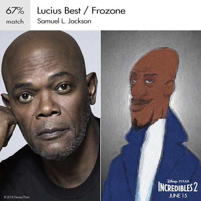 Samuel L. Jackson as Frozone in Pixar's <em>Incredibles 2.</em> (Image: Disney)