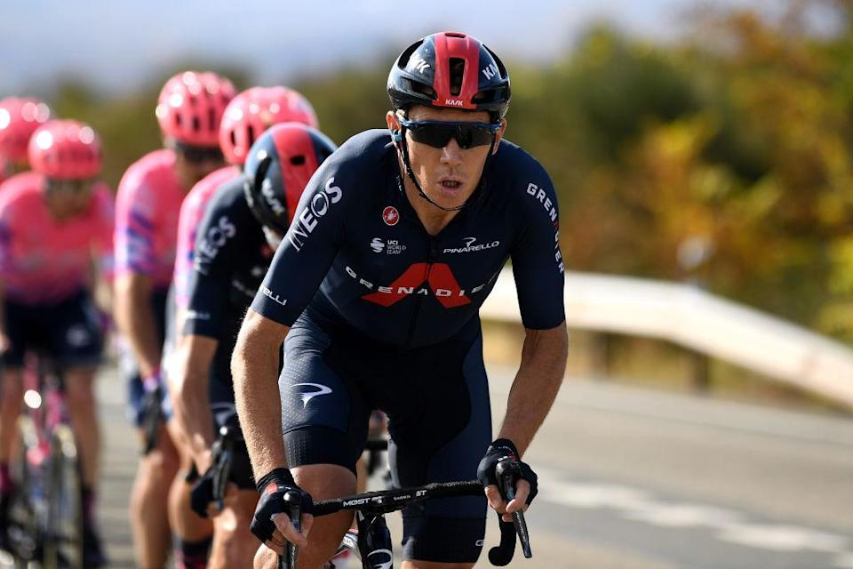 ALTODEMONCALVILLO SPAIN  OCTOBER 28 Cameron Wurf of Australia and Team INEOS  Grenadiers  Peloton  during the 75th Tour of Spain 2020 Stage 8 a 164km stage from Logroo to Alto de Moncalvillo 1490m  lavuelta  LaVuelta20  on October 28 2020 in Alto de Moncalvillo Spain Photo by David RamosGetty Images