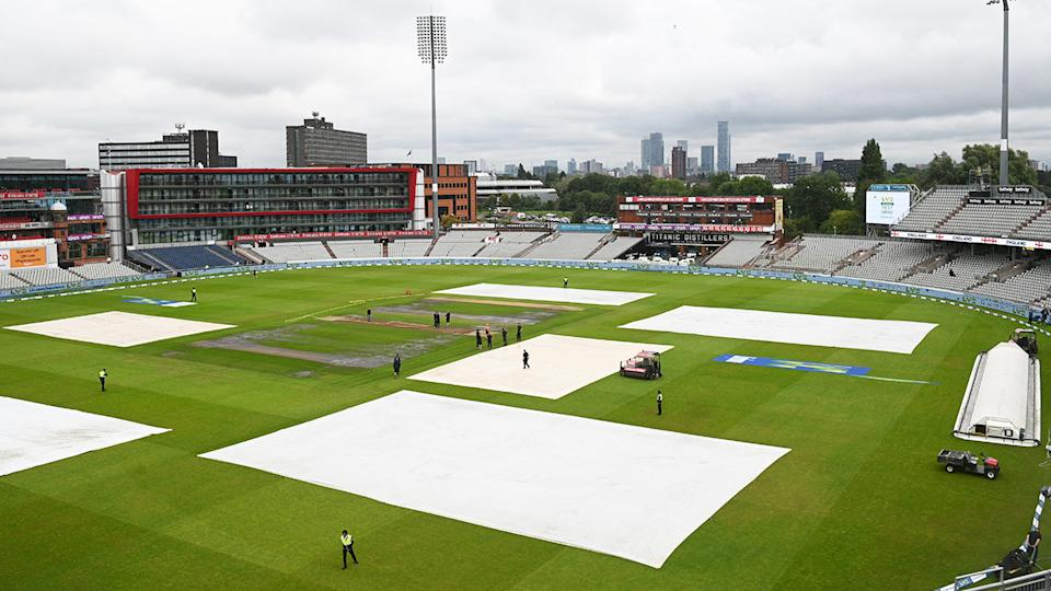 Empty stands, pictured here following news of the cancellation of the fifth Test between England and India at Old Trafford.
