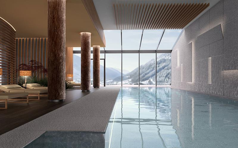 Francesca chose Lefay Resort & Spa Dolomiti in Italy – a wellness break in the mountain air for her; swimming and relaxation for her family