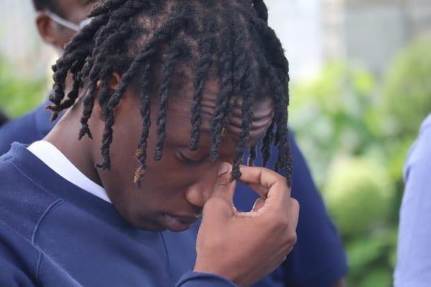Kayshawn Olivier, the victim's son, questions why police shot his father in the stomach three times instead of using other non-lethal measures.  (Sarah Leavitt/CBC - image credit)