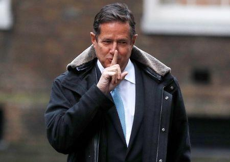 Barclays' CEO Jes Staley arrives at 10 Downing Street in London, Britain January 11, 2018. REUTERS/Peter Nicholls