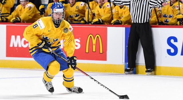 Rasmus Dahlin is expected to come off the draft board first. (Getty)