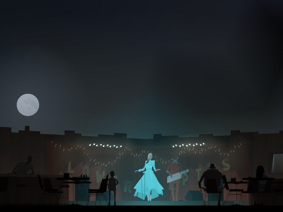 A musical performance echoes into the night sky in the masterful 'Kentucky Route Zero' (Cardboard Computer)