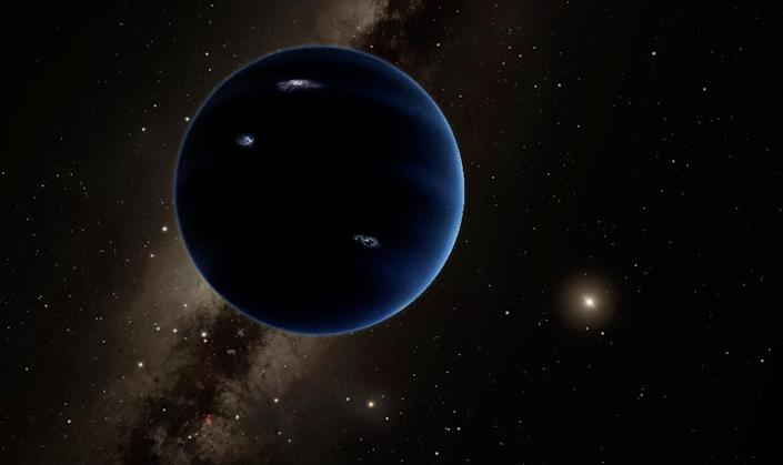 This artist's concept illustration received January 20, 2016 courtesy of Caltech/Robert Hurt shows a distant view from Planet Nine back towards the sun (AFP Photo/)