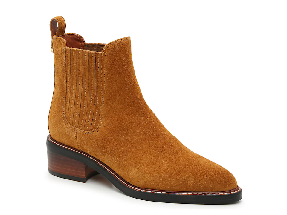 """<br><br><strong>Coach</strong> Bowery Chelsea Boot, $, available at <a href=""""https://go.skimresources.com/?id=30283X879131&url=https%3A%2F%2Fwww.dsw.com%2Fen%2Fus%2Fproduct%2Fcoach---luxury-bowery-chelsea-boot%2F474036"""" rel=""""nofollow noopener"""" target=""""_blank"""" data-ylk=""""slk:DSW"""" class=""""link rapid-noclick-resp"""">DSW</a>"""