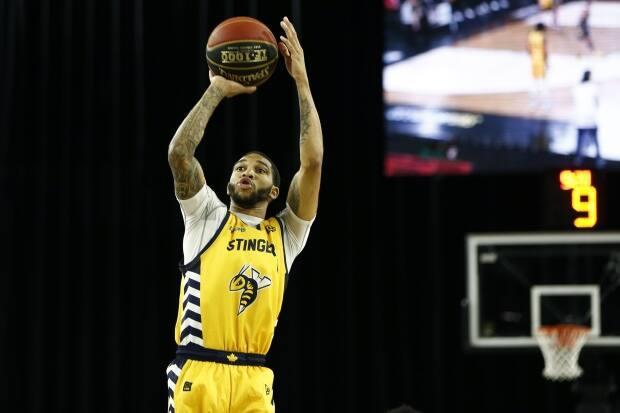 Stingers' Xavier Moonset the record for most points in a CEBLgame with 38 while also establishing a new CEBL record for most points in a quarter during Edmonton's 82-75 win over the Niagara River Lions on Friday night. (Ian Kucerak/CEBL - image credit)
