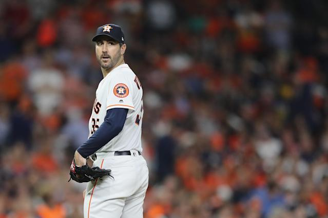Justin Verlander is Jeff Passan's choice for AL Cy Young because he was there, he was healthy and he was great, a classic workhorse. (Getty Images)