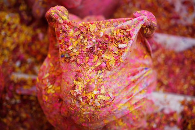 <p>A widow daubed in colours takes part in Holi celebrations in the town of Vrindavan in the northern state of Uttar Pradesh, India, Feb. 27, 2018. (Photo: Adnan Abidi/Reuters) </p>