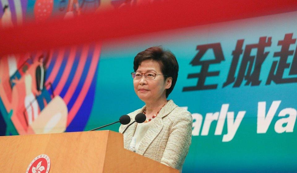 Hong Kong Chief Executive Carrie Lam Cheng Yuet-ngor has been targeted by US sanctions. Photo: Xiaomei Chen