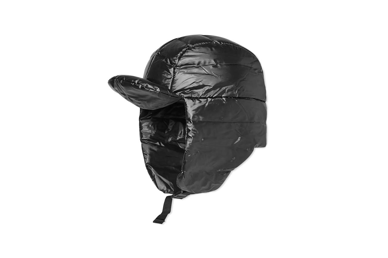 """$49, End Clothing. <a href=""""https://www.endclothing.com/us/rains-puffer-hat-2008-bk.html"""">Get it now!</a>"""