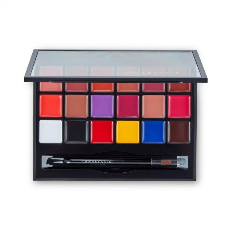The palette offers 18 shades, ranging from primaries and neutrals to bold brights. (Photo: Anastasia Beverly Hills)
