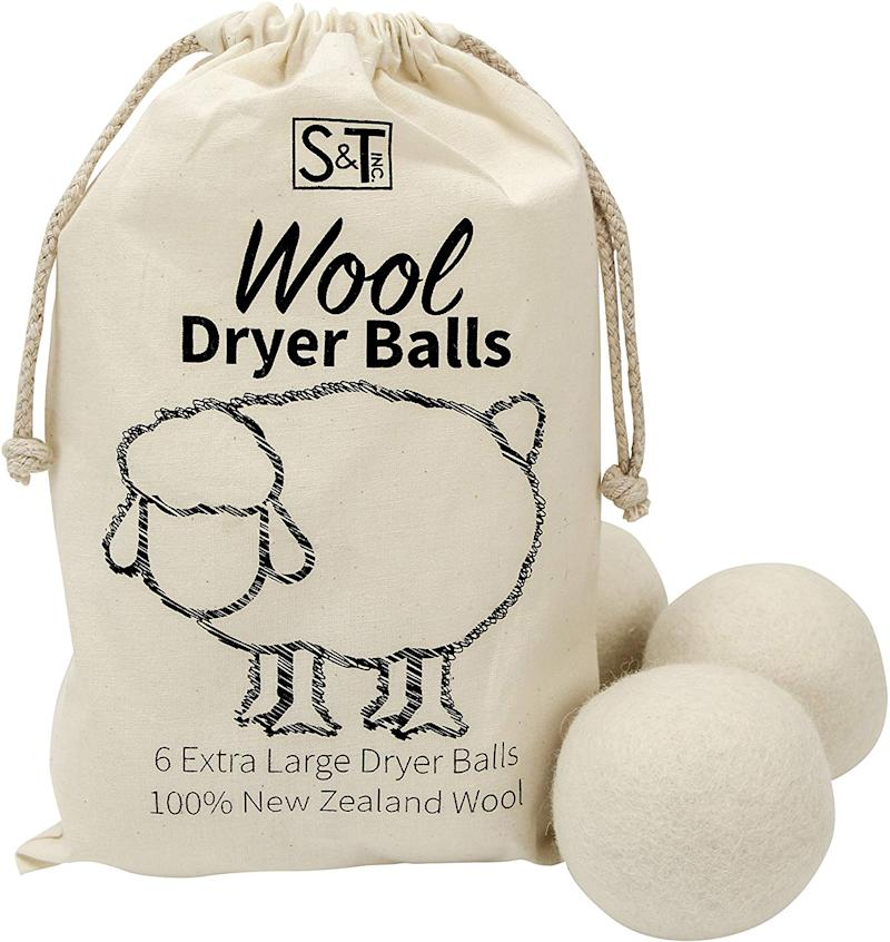 S&T Wool Dryer Balls 6 Pack