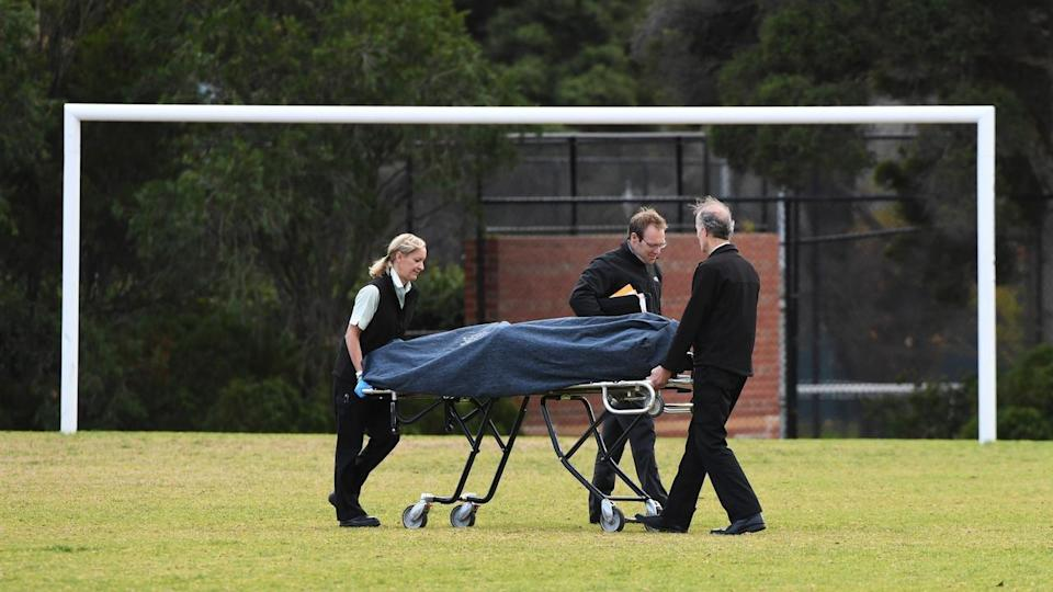 The 22-year-old's body was found by a passer-by on a Carlton North soccer field early on Wednesday morning Source: AAP