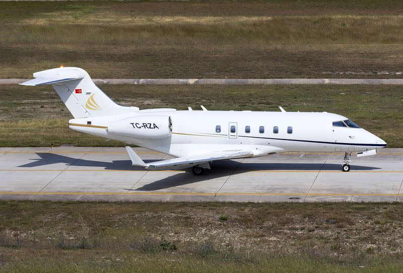 TC-RZA, a private jet which was used during the escape of ousted Nissan chairman Ghosn from Japan to Lebanon through Turkey