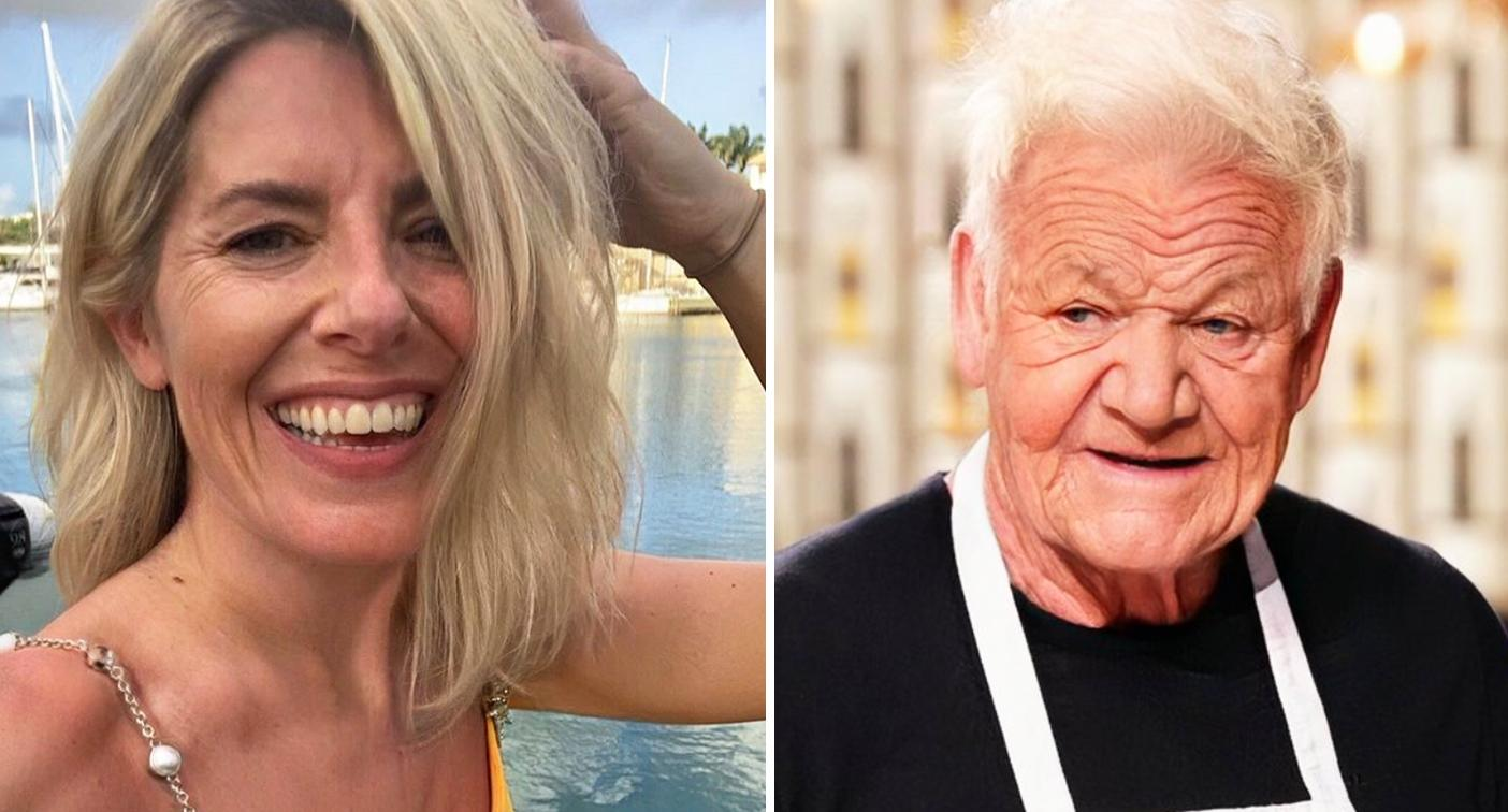 Mollie King (left) and Gordon Ramsay, edited with the FaceApp old age filter. [Photo: Twitter/Instagram]