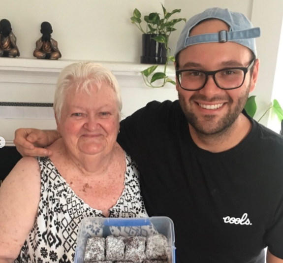 Reece Hignell pictured with grandmother Heather Bates in Instagram post announcing tragic loss before MasterChef episode