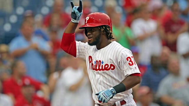 Phillies outfielder Odúbel Herrera is putting together a true breakout season. (AP)