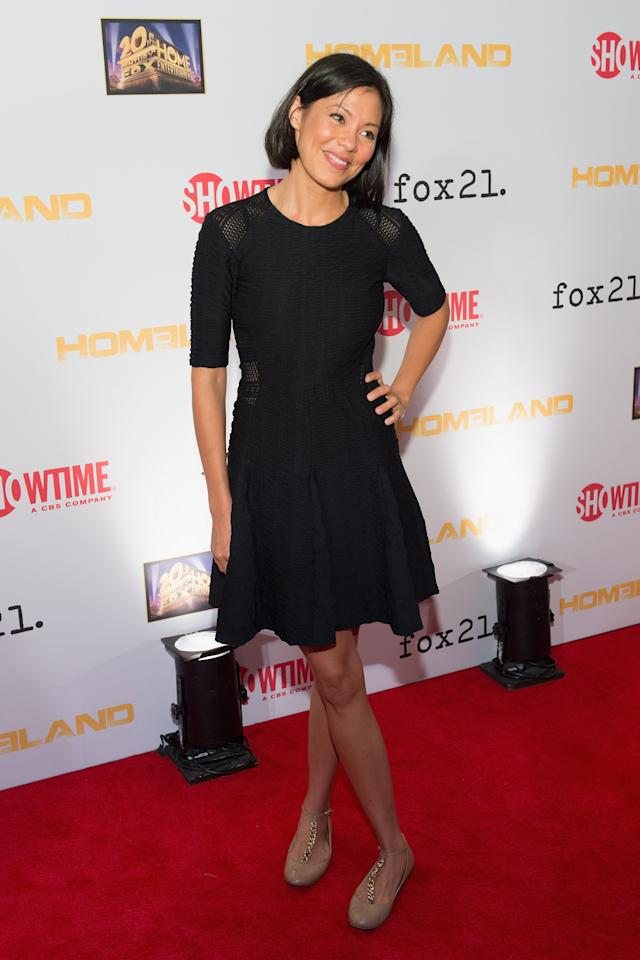 "WASHINGTON, DC - SEPTEMBER 09: Alex Wagner attends a premiere screening hosted by SHOWTIME and Fox 21 for Season 3 of the hit series ""Homeland"" at Corcoran Gallery of Art on September 9, 2013 in Washington City. (Photo by Daniel Boczarski/Getty Images for Showtime)"