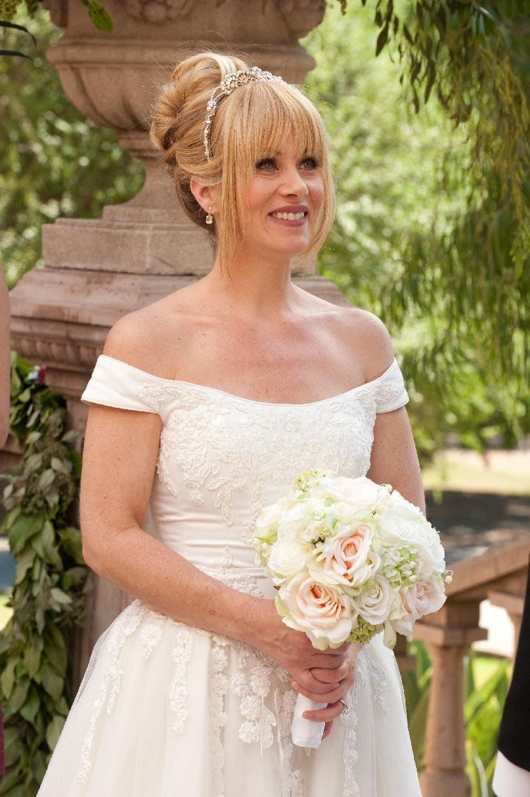 "This undated publicity photo released by NBC shows Christina Applegate, as Reagan Brinkley, in the TV series, ""Up All Night,"" Season 2, ""The Wedding,"" Episode 211. Applegate says she's bowing out of NBC's ""Up All Night."" In a statement Friday, Feb. 8, 2013, the actress said the show has taken a ""different creative direction"" and she's decided to move on to other projects. She called the sitcom a great experience and said she will miss her co-workers. (AP Photo/NBC, Colleen Hayes)"