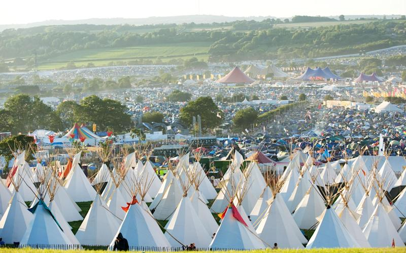 Glastonbury is now the size of a city - Getty