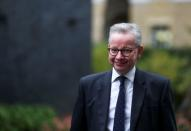 FILE PHOTO: Britain's Chancellor of the Duchy of Lancaster Michael Gove arrives for a Cabinet meeting, in London