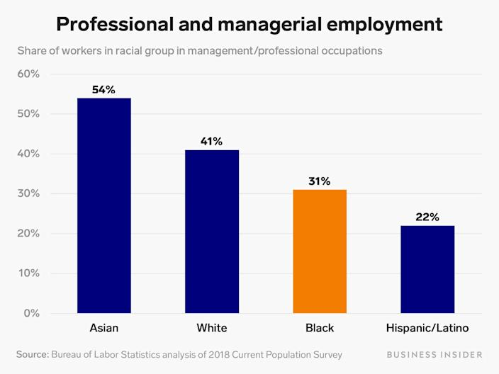 professional employment by race v3