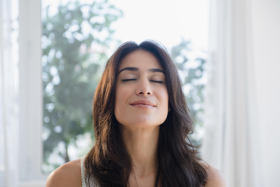Breathe deeply for better sleep. Photo: Getty