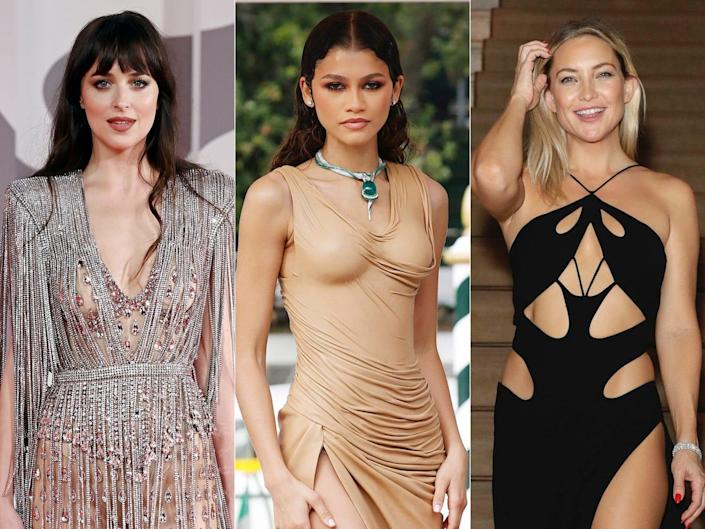 Celebrities had fun embracing daring trends at the 2021 Venice Film Festival.