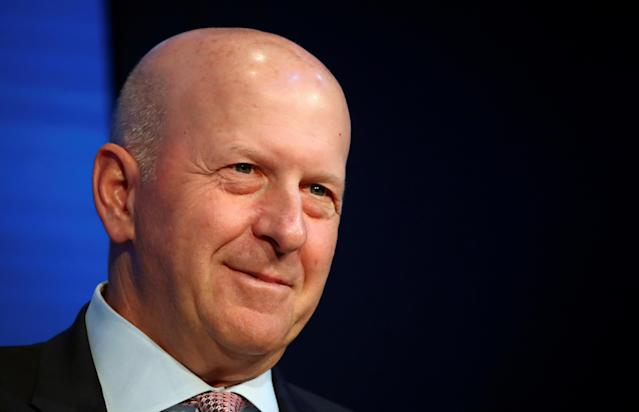 Goldman Sachs' chairman and CEO David Solomon at the 50th World Economic Forum annual meeting in Davos, Switzerland, on 21 January 21. Photo: Denis Balibouse/Reuters