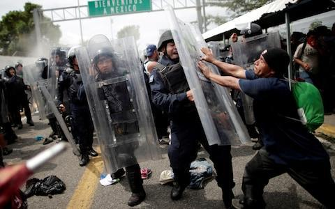 <span>Tensions on the border became heated on Friday night</span> <span>Credit: Reuters </span>
