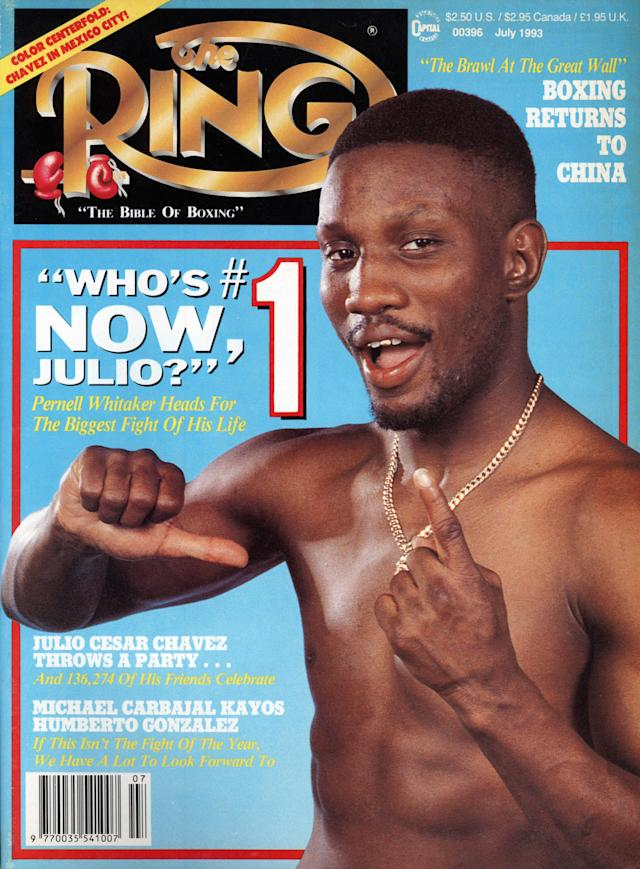 Pernell Whitaker on the cover of Ring Magazine in 1993. (Photo by: The Ring Magazine via Getty Images)