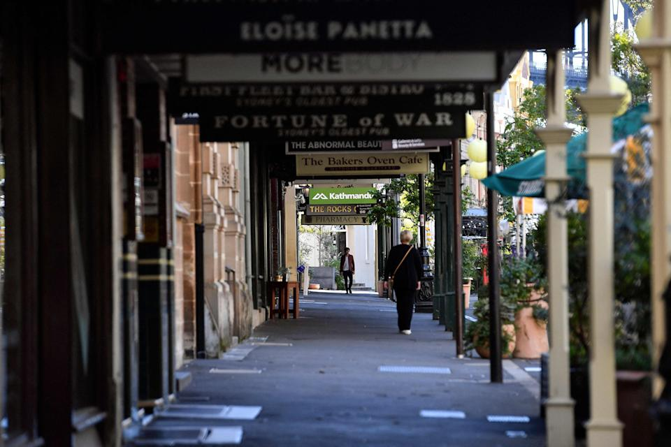 The Rocks in Sydney as the city entered lockdown (AFP via Getty Images)
