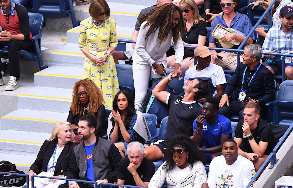 Meghan Markle watches Serena Williams at the 2019 U.S. Open. (Photo: JOHANNES EISELE via Getty Images)