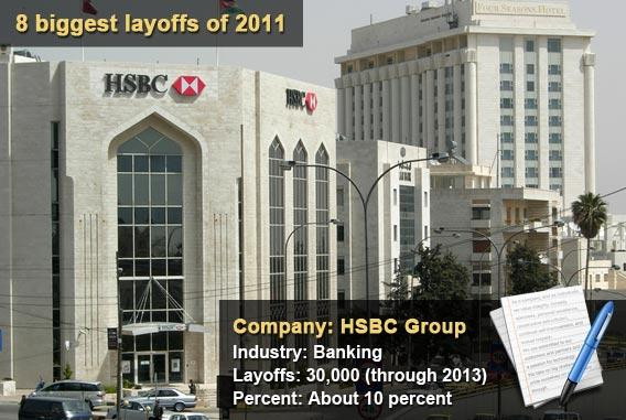 8 biggest layoffs of 2011 - HSBC