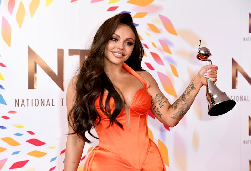 Jesy Nelson with the award for best factual in the Press Room at the National Television Awards 2020 held at the O2 Arena, London. Photo credit should read: Doug Peters/EMPICS