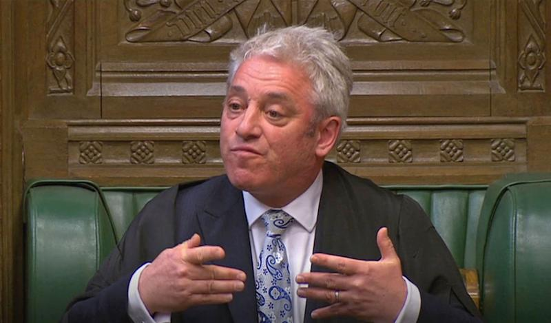 Speaker John Bercow addresses the House of Commons during a Brexit debate ahead of a second round of votes on alternative proposals to the government's Brexit deal.