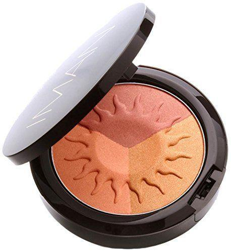 """<p><strong>Iman Cosmetics</strong></p><p>anabale.com</p><p><strong>$22.00</strong></p><p><a href=""""https://www.anabale.com/iman-cosmetics-sheer-finish-bronzing-powder-afterglow.html?gclid=Cj0KCQjwkZiFBhD9ARIsAGxFX8A7sjmnBUzD6-9NkujN5jF0gv82NAt6pDt5cVnyK5JMPu7m2XkeNosaAoXTEALw_wcB"""" rel=""""nofollow noopener"""" target=""""_blank"""" data-ylk=""""slk:Shop Now"""" class=""""link rapid-noclick-resp"""">Shop Now</a></p><p>Iman Cosmetics is founded and named after supermodel Iman, who created this line to meet the needs of Black women. This bronzer doesn't disappoint <strong>with three vivid shades that won't leave you looking ashy or too orange.</strong> When traveling, you can apply these products separately to serve as your highlighter, blush or even eyeshadow. </p>"""