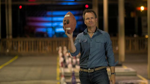 Phil Keoghan puts teams through their paces as the host of<em> The Amazing Race</em>. (Photo: CBS ©2019 CBS Broadcasting, Inc. All Rights Reserved)