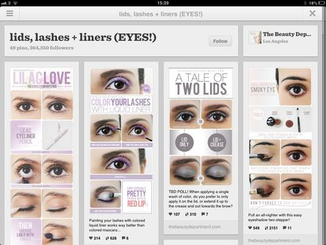 The Beauty Department Pinterest
