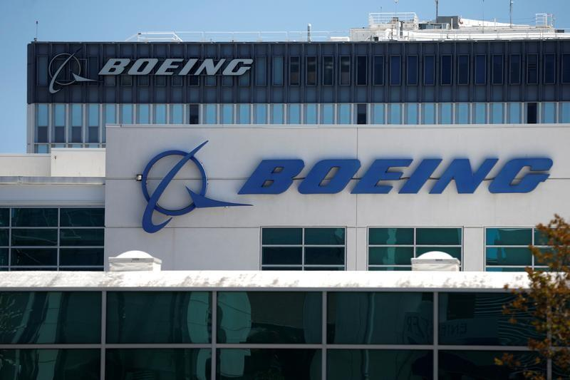 Boeing facilities are seen in Los Angeles, California