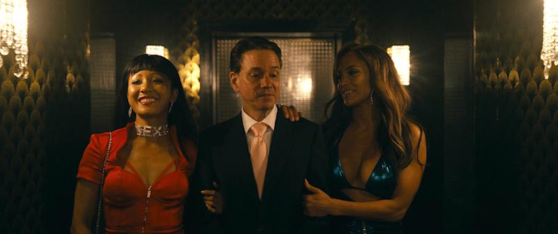 Constance Wu and Jennifer Lopez star in the first Hustlers trailer (Credit: STX films)