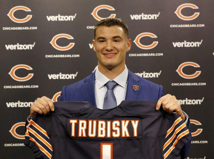 The Bears selected Mitchell Trubisky second overall in the NFL draft. (AP)