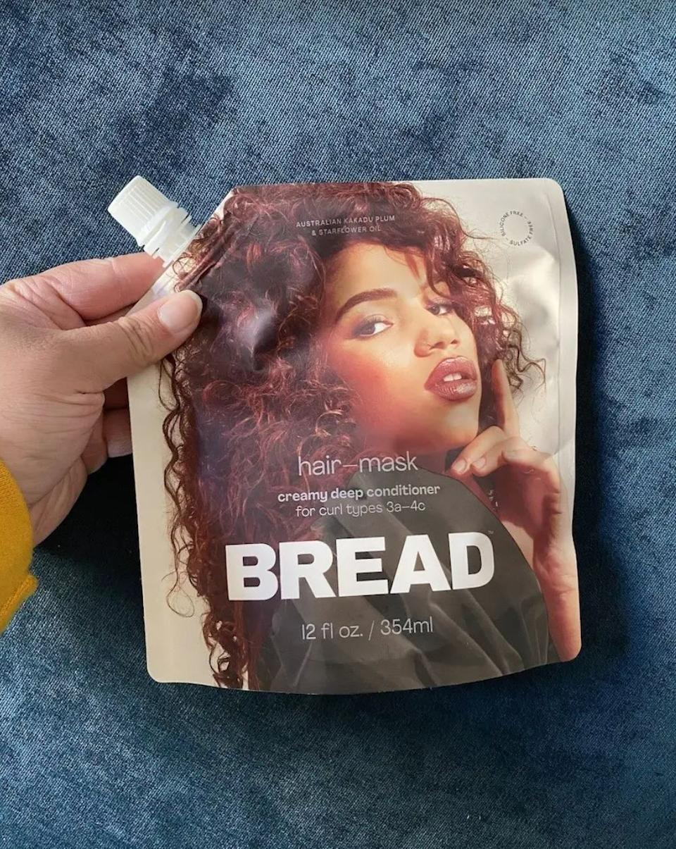 """Bread Beauty Supply is a Black woman-owned business that was founded by Maeva Heim in 2020.<br /><br /><strong>Promising review:</strong>""""I recently started using Bread products and I really love how lightweight and easy they are to use. Since I have mixed textured hair that's been frequently dyed, it tends to get very dry. After using this deep conditioner my hair felt so much better and softer. In addition to that, the smell is A-MA-ZING. Definitely one of my new favorite wash day products."""" —<a href=""""https://www.buzzfeed.com/kaylaboyd"""" target=""""_blank"""" rel=""""noopener noreferrer"""">Kayla Boyd</a><br /><br /><strong>Get it from Bread Beauty Supply for <a href=""""https://go.skimresources.com?id=38395X987171&xs=1&url=https%3A%2F%2Fwww.breadbeautysupply.com%2Fproducts%2Fhair-mask&xcust=HPBeautyGifts60884d2de4b0b9042d8b22ef"""" target=""""_blank"""" rel=""""noopener noreferrer"""">$28</a>.</strong>"""