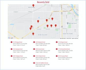 "DeltaNET 6 CRM platform for leading real estate brokerages now features ""Recently Sold"" maps with the final sales price around your local area."