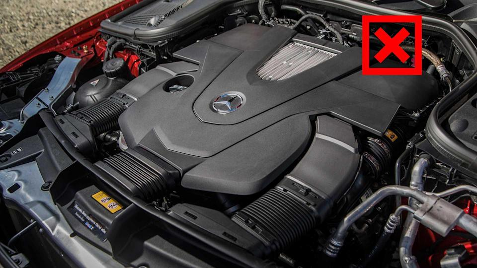 """<p>We aren't asking Mercedes to offer a Euro-spec engine variety (the E-Class Estate in the UK offers eight different engines), but it'd certainly help this car's appeal if it mirrored its sedan sibling's engine line.</p> <p>The twin-turbocharged 3.0-liter V6 and its 362 horsepower are excellent companions, but a 5.1-second sprint to 60 might be more than the average customer needs. We'd love to see how an E350 Wagon would do, featuring the same turbocharged 2.0-liter found in the sedan. It'd certainly help with the high starting price.</p><ul><li><a href=""""https://www.motor1.com/reviews/308487/2018-mercedes-amg-e63s-wagon-review/?utm_campaign=yahoo-feed"""" rel=""""nofollow noopener"""" target=""""_blank"""" data-ylk=""""slk:2018 Mercedes-AMG E63S Wagon Review: Do It All"""" class=""""link rapid-noclick-resp"""">2018 Mercedes-AMG E63S Wagon Review: Do It All</a></li><br></ul>"""